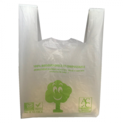 sac plastique biodégradable à bretelle