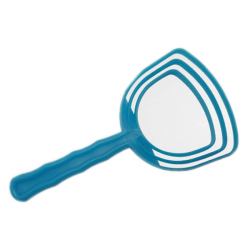 grattoir à sciure d'os en plastique bleu