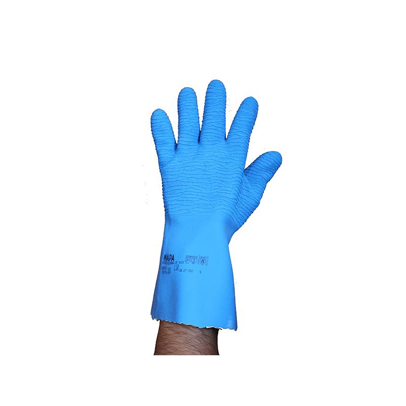 gant nervuré bleu