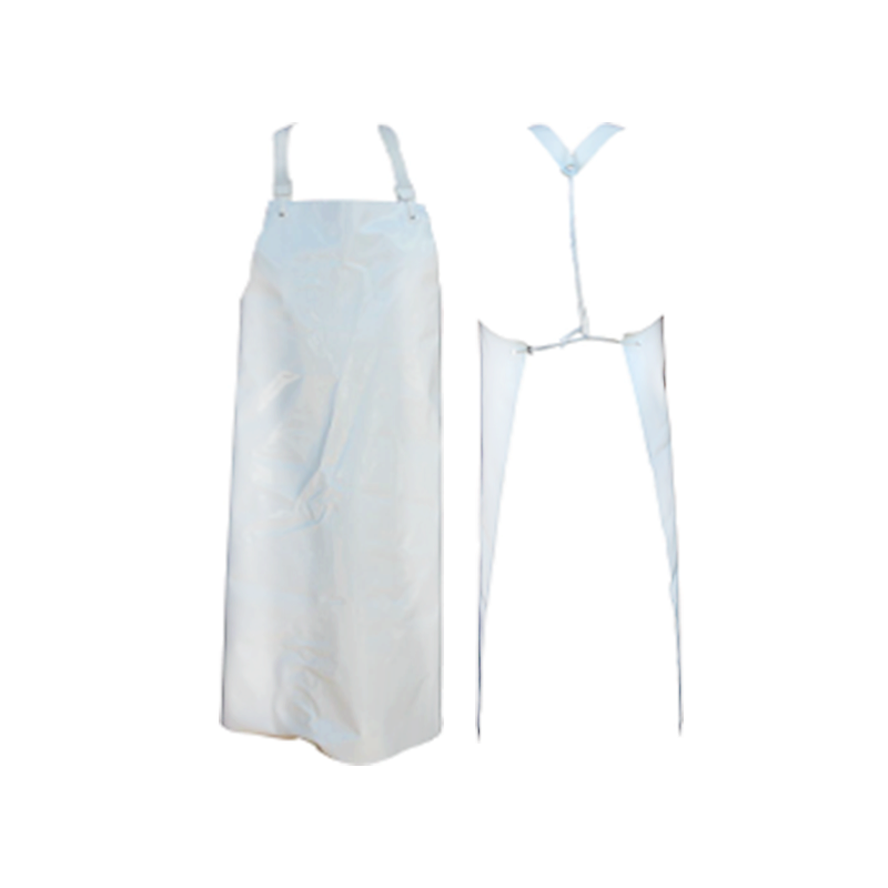 tablier polyéthylène blanc à attache standard
