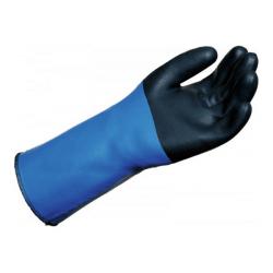 gant anti-chaleur bleu et noir