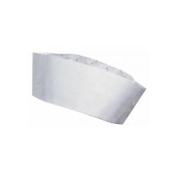 calot en papier blanc jetable