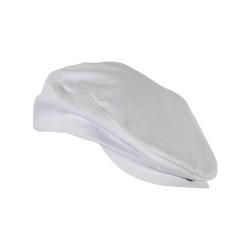 casquette blanche réglable avec visière