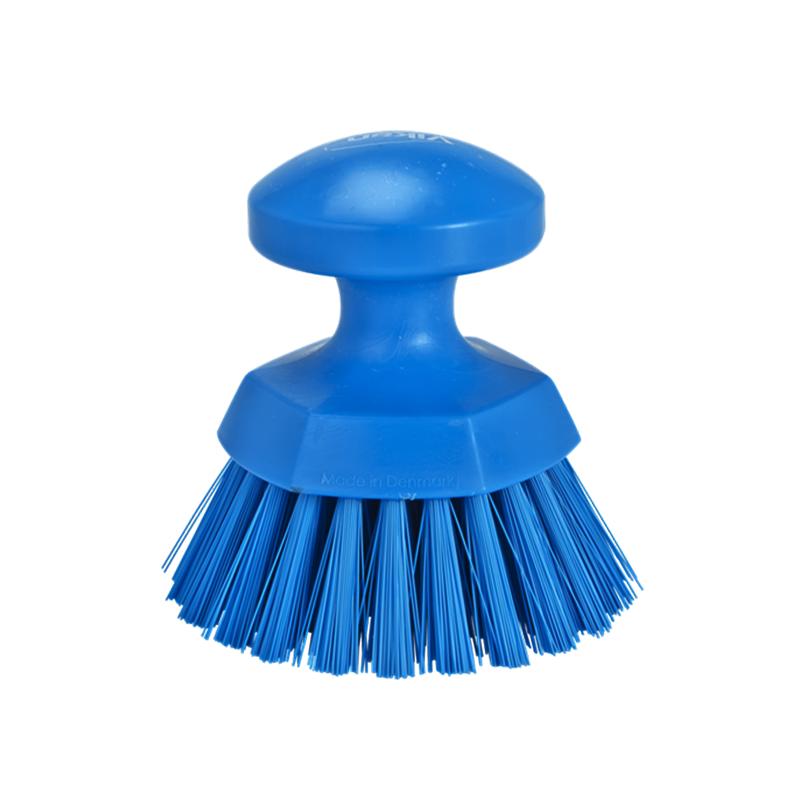 brosse ronde à main bleu